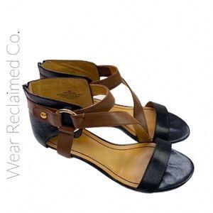 EUC NINE WEST Heraina 2 Tone Gladiator Sandals